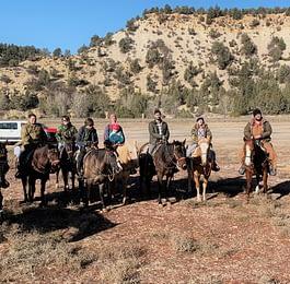 Cross-country horseback riding