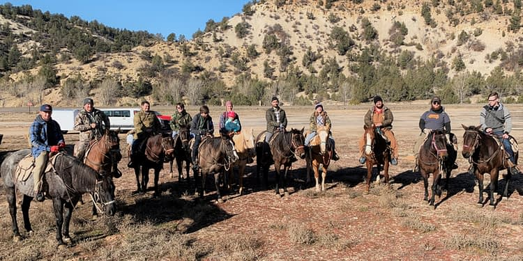 Cross-country horseback riding