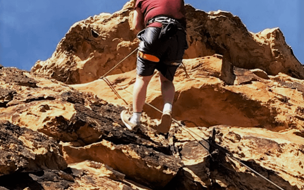 New rock climber